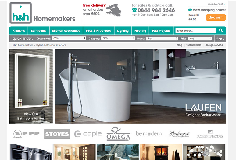 HHHomemakers.com- Well Established Ecommerce Bathroom Website - The ...